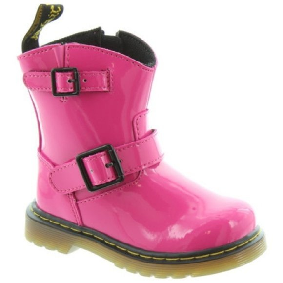 Doc Martens Girls Pink Patent Leather Jiffy size 9